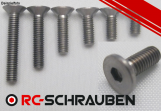 1x Titan Grade 5 countersunk screw (DIN 7991) - M3x16