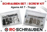 Screw kit for the Agama A8T - Truggy