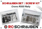Screw kit for the Crono RS03 Rally