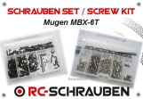 Screw kit for the Mugen MBX-6T