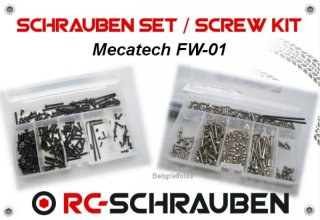 High tensile screw  kit for the Mecatech FW 01