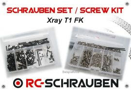 Screw kit for the Xray T1 FK -6lobe Steel-