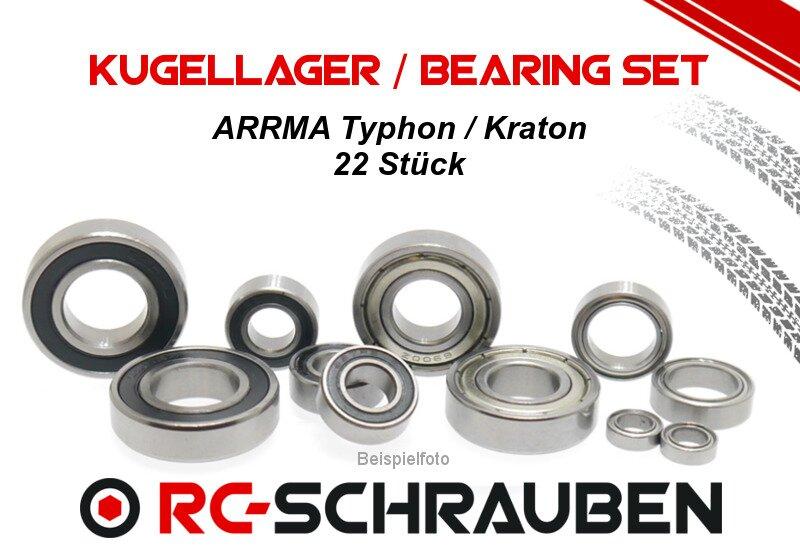 Modellbau-Werkstatt Kugellager-Set f/ür ARRMA Kraton 1:5 8S BLX ARA110002T1 ARA110002T2 Komplettset Full Ball Bearing kit